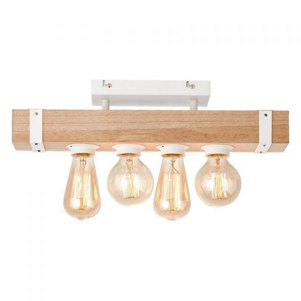 Φωτιστικό Οροφής Πολύφωτο Brilliant White Wood HK18245S75 Natural