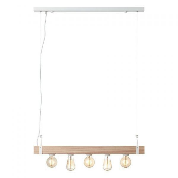 Φωτιστικό Οροφής Πολύφωτο Brilliant White Wood HK18248S75 Natural