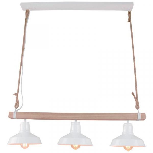 Φωτιστικό Οροφής Τρίφωτο Brilliant Hank 99127/05 White/Natural