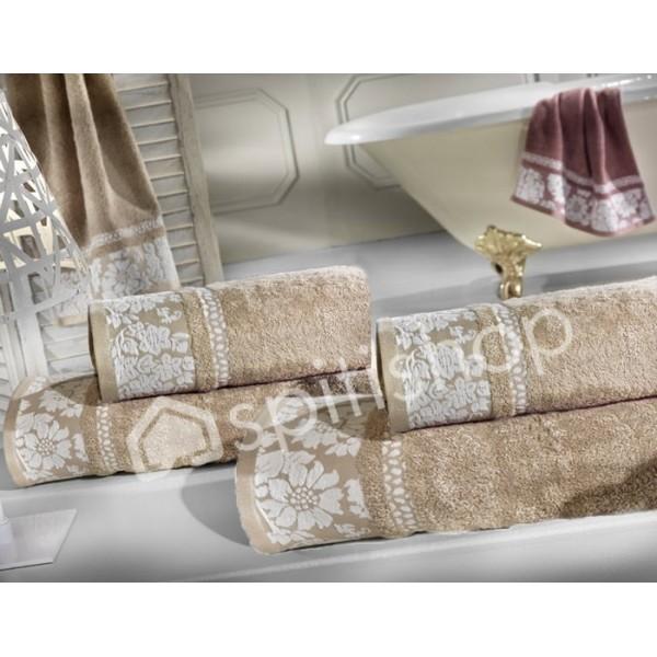Πετσέτες Μπάνιου (Σετ 2τμχ) Nima Le Bain Emily Beige