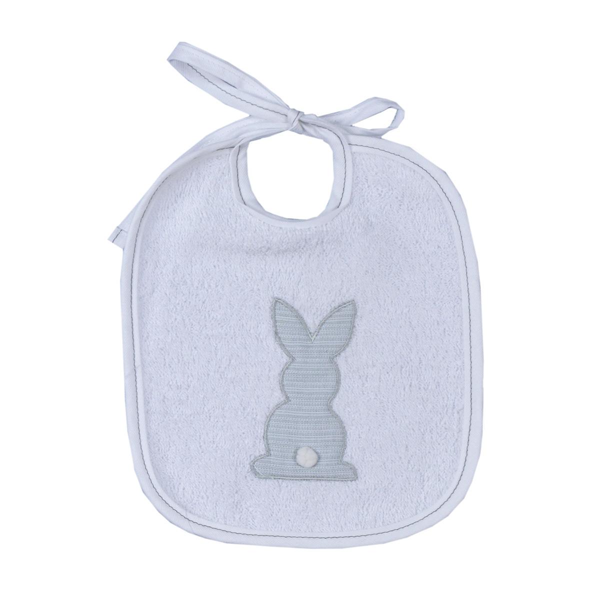 Σαλιάρα Baby Oliver Grey Bunny 356