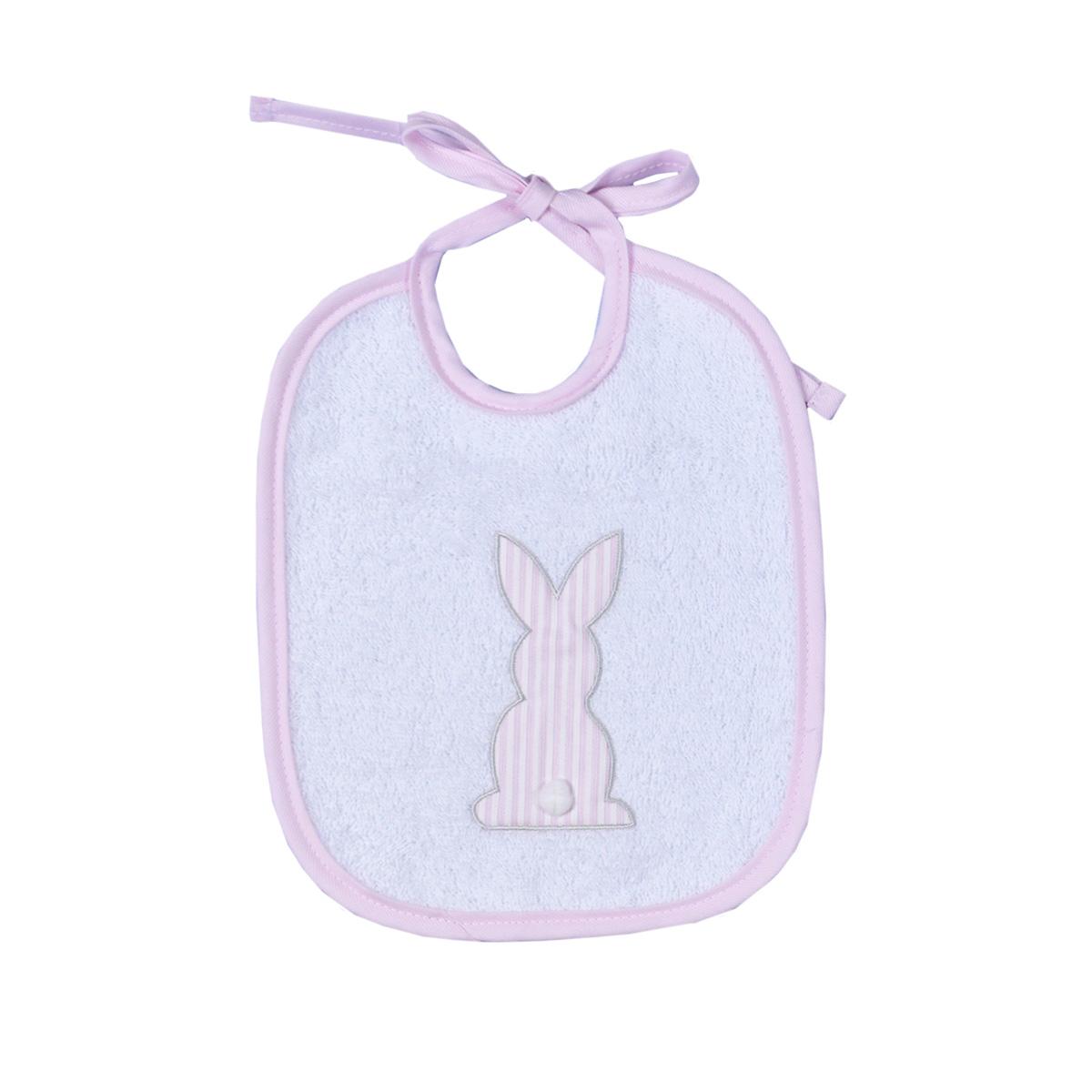 Σαλιάρα Baby Oliver Pink Bunny 357