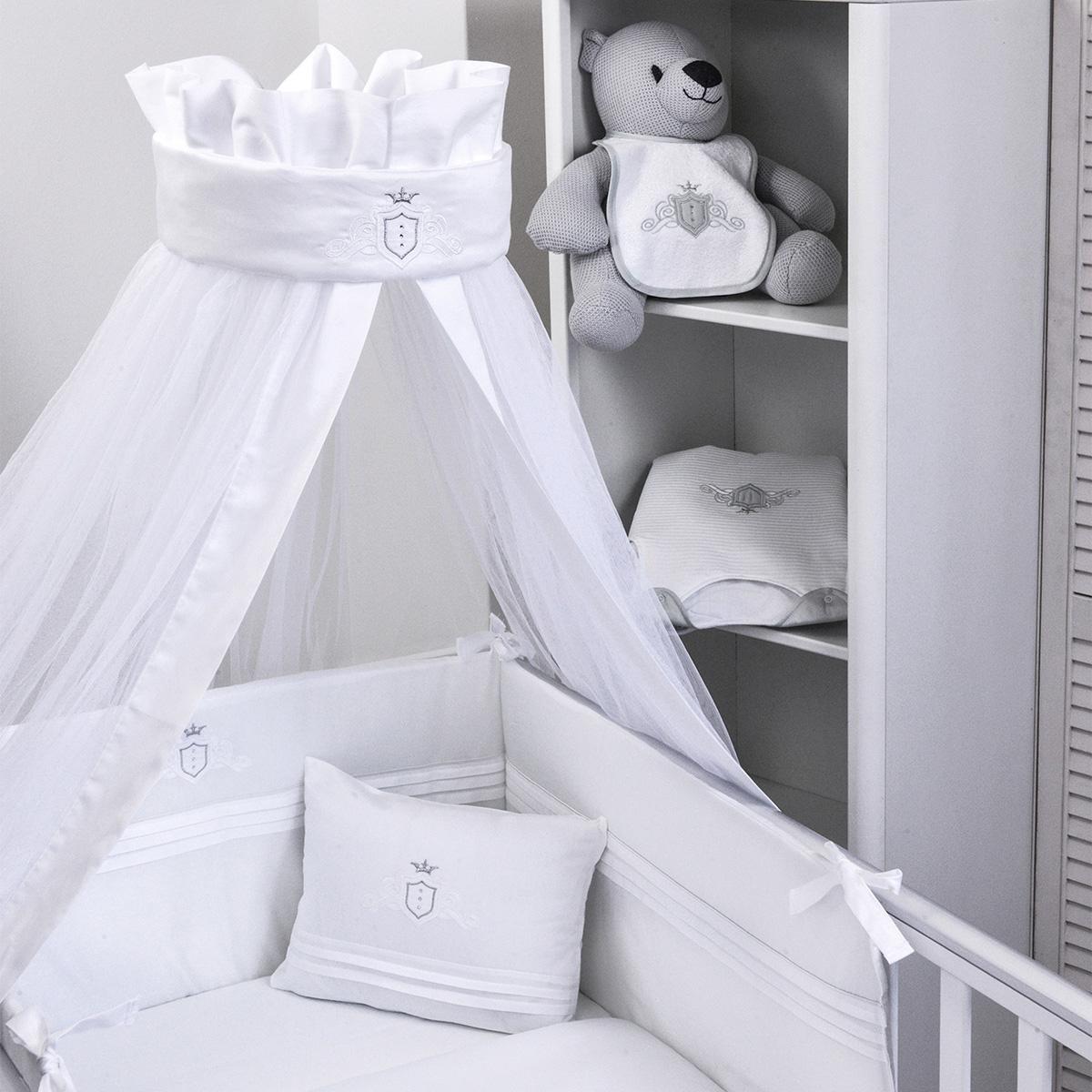 Κουνουπιέρα Κούνιας Baby Oliver Satin L.Grey 380