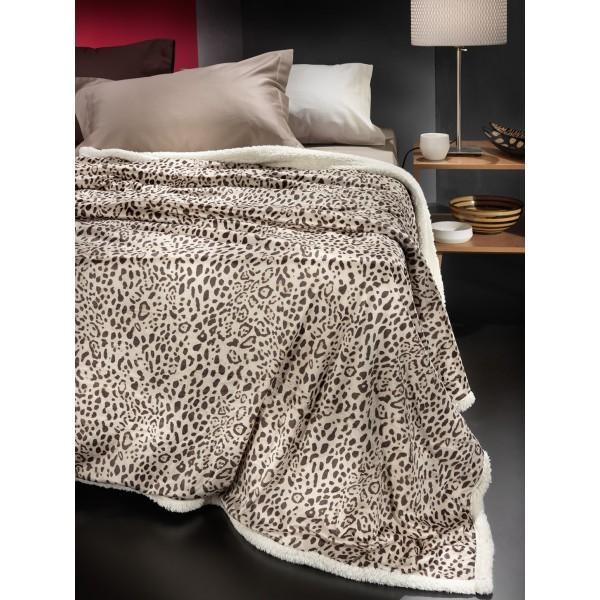 Κουβέρτα Fleece Μονή Με Γουνάκι Nima Rancho Goya