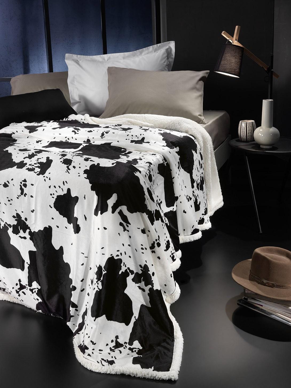 Κουβέρτα Fleece Μονή Με Γουνάκι Nima Rancho Clarabelle