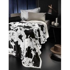 Κουβέρτα Fleece Υπέρδιπλη Με Γουνάκι Nima Rancho Clarabelle
