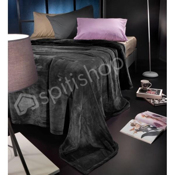Κουβέρτα Fleece Υπέρδιπλη Nima Loafer Gothic