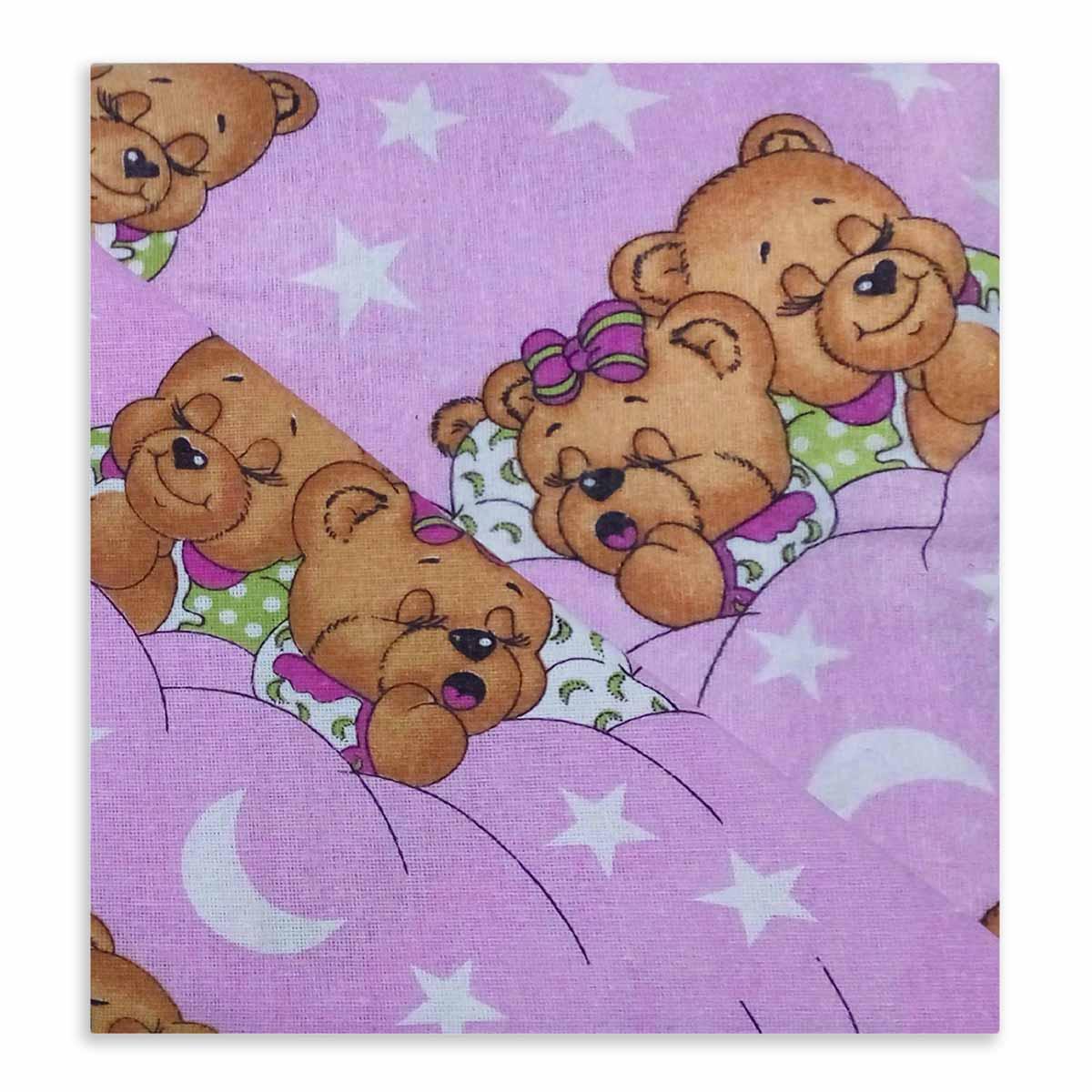 Φανελένια Παιδική Μαξιλαροθήκη Dimcol Sweet Dreams 70 Lila