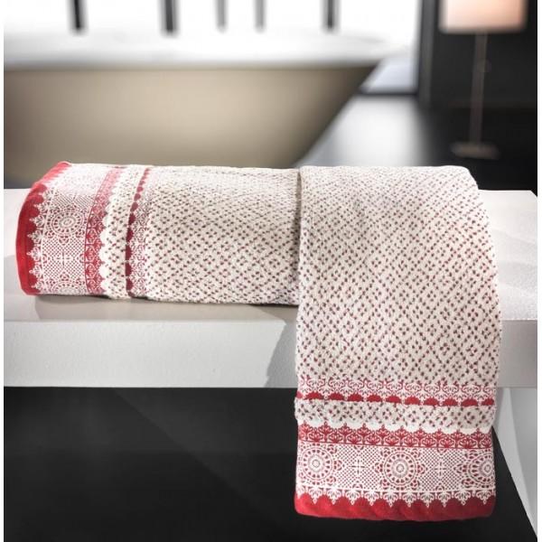 Πετσέτες Μπάνιου (Σετ 2τμχ) Nima Le Bain Giovanni Red
