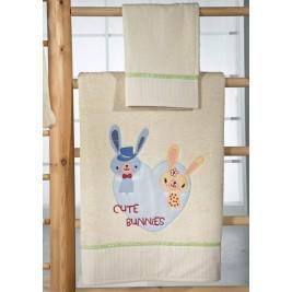 Βρεφικές Πετσέτες (Σετ) Nima Mama-Dada Cute Bunnies