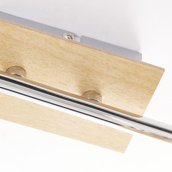Σποτ Τρίφωτο Brilliant Nacolla 56333/75 Chrome/Natural Wood