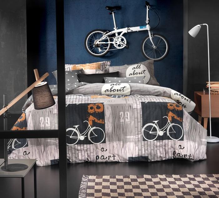 Παπλωματοθήκη Μονή (Σετ) Nima Cotton 'N Style Bike 01