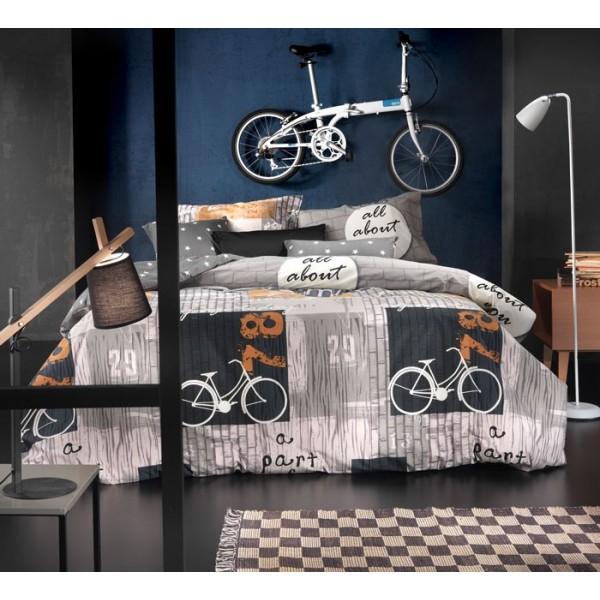 Σεντόνια Ημίδιπλα (Σετ) Nima Cotton 'N Style Bike 01