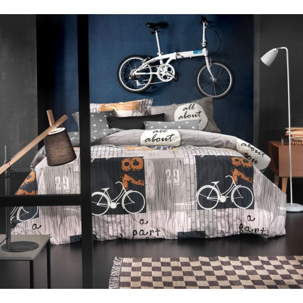 Σεντόνια Υπέρδιπλα (Σετ) Nima Cotton 'N Style Bike 01