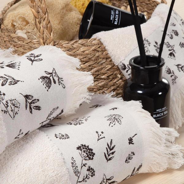 Πετσέτα Προσώπου (50x90) Nef-Nef Chrystabel Ecru
