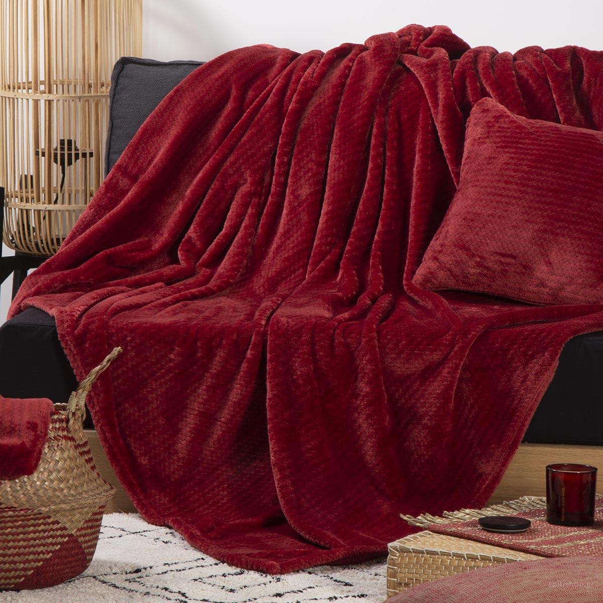 Ριχτάρι Διθέσιου Fleece (180x250) Nef-Nef Cameron Bordo