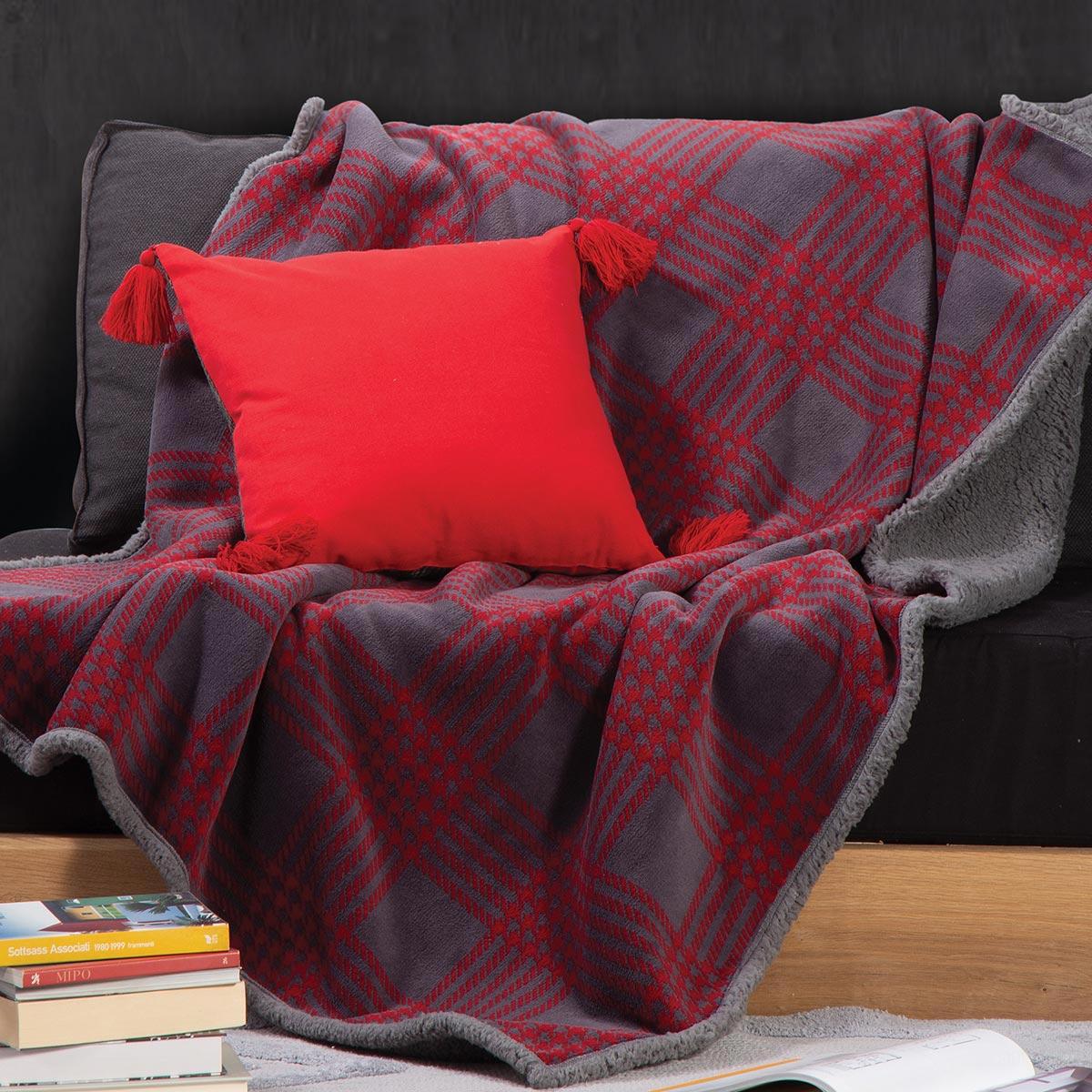 Κουβέρτα Καναπέ Nef-Nef First Bordo
