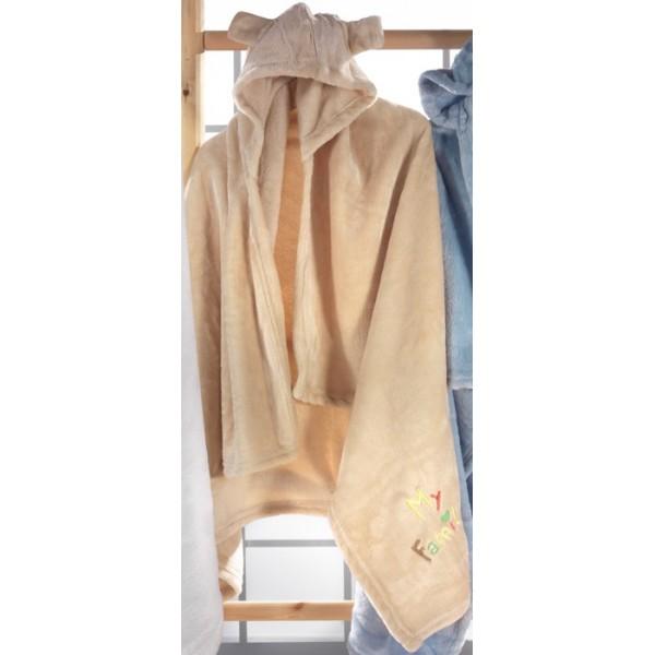 Κουβέρτα Fleece Αγκαλιάς Με Κουκούλα Nima Huggy Buggy Doof 03