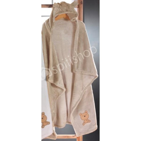 Κουβέρτα Fleece Αγκαλιάς Με Κουκούλα Nima Huggy Buggy Pim Grim 3
