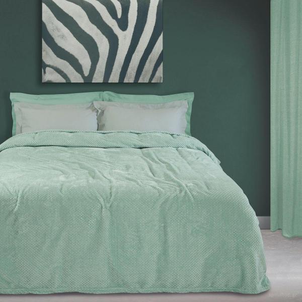 Κουβέρτα Fleece Υπέρδιπλη Das Home Blanket Line 0440 Mint