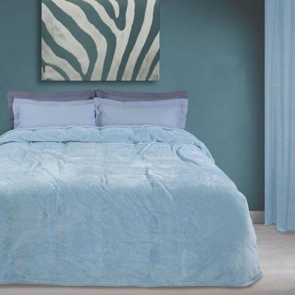 Κουβέρτα Fleece Υπέρδιπλη Das Home Blanket Line 0441 Blue