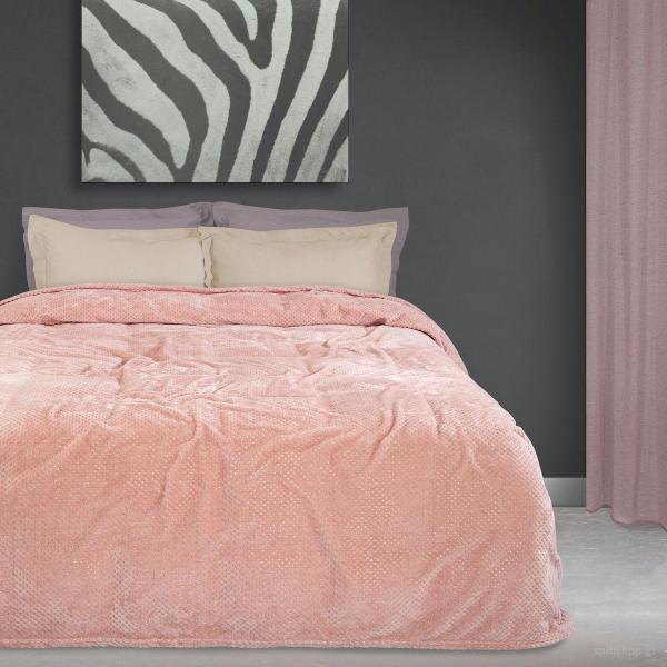 Κουβέρτα Fleece Υπέρδιπλη Das Home Blanket Line 0442 Pink