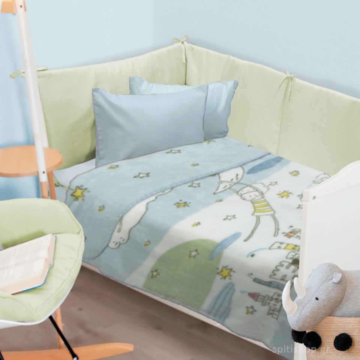 Κουβέρτα Βελουτέ Κούνιας Das Home Blanket Line 6594