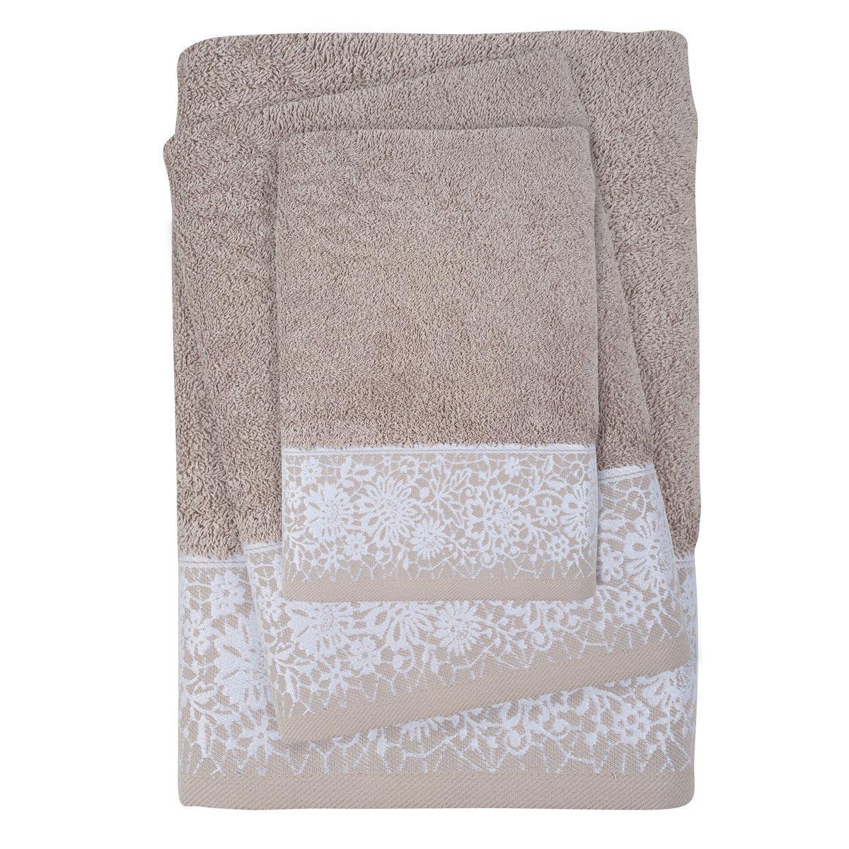 Πετσέτες Μπάνιου (Σετ 3τμχ) Das Home Daily Line 0433 Beige