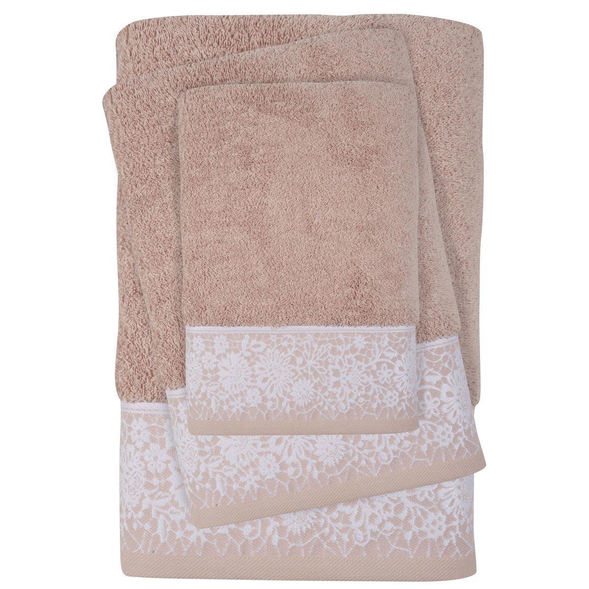 Πετσέτες Μπάνιου (Σετ 3τμχ) Das Home Daily Line 0435 Nude