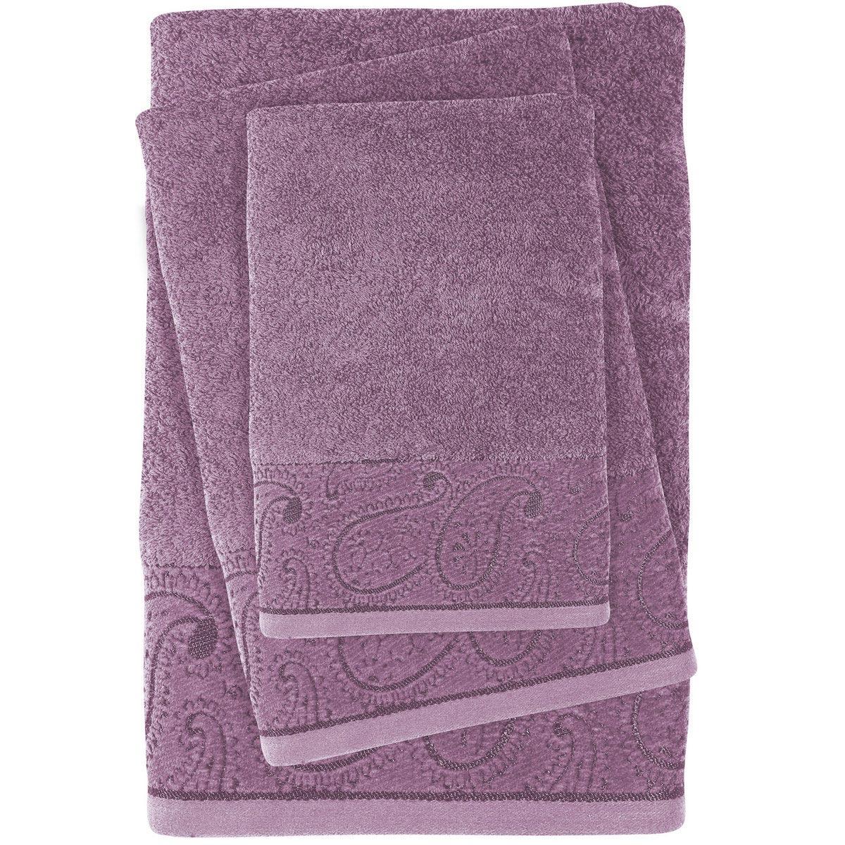 Πετσέτες Μπάνιου (Σετ 3τμχ) Das Home Daily Line 0437 Purple
