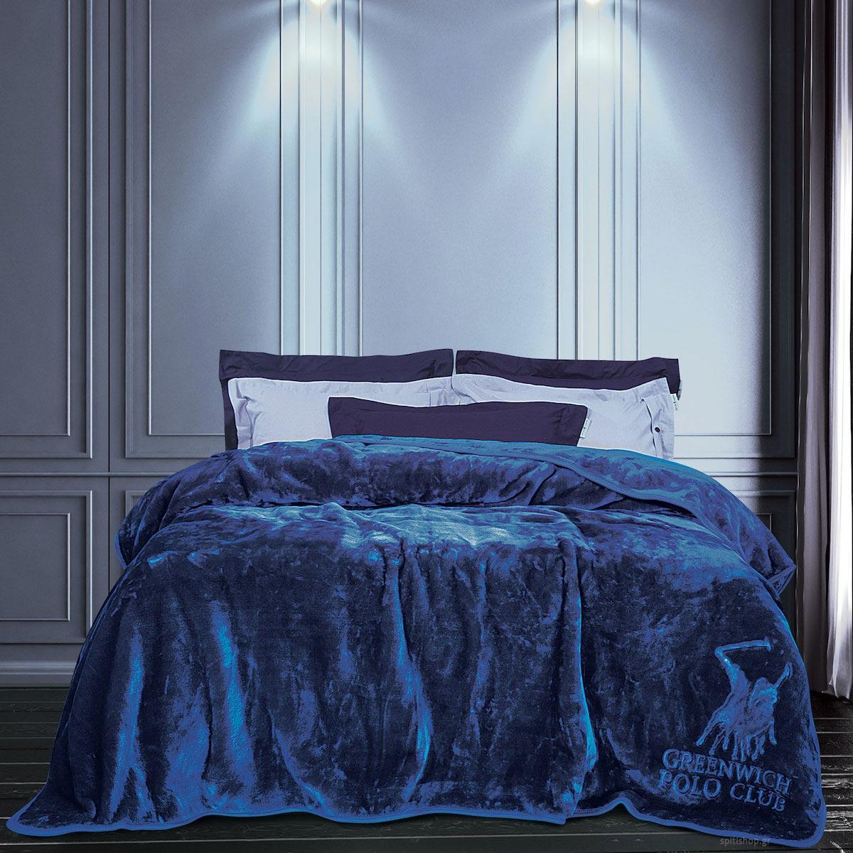 Κουβέρτα Βελουτέ Μονή Polo Club Blanket 2455