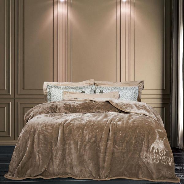 Κουβέρτα Βελουτέ Υπέρδιπλη Greenwich Polo Club Blanket 2452 Σπαγγί