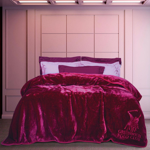 Κουβέρτα Βελουτέ Υπέρδιπλη Greenwich Polo Club Blanket 2454 Bord
