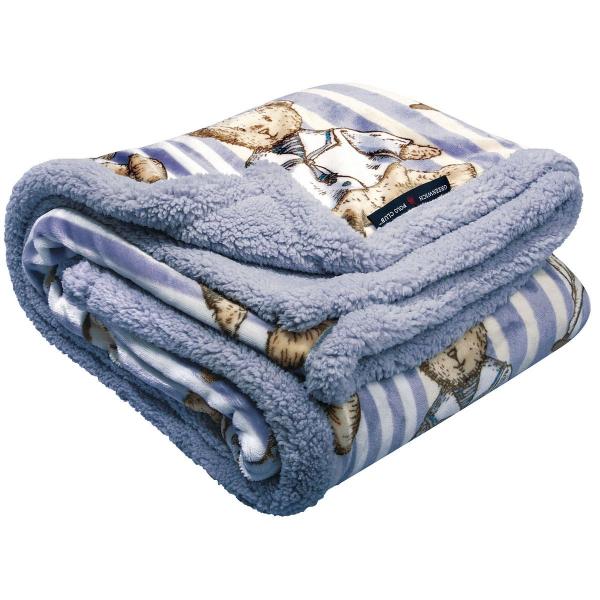 Κουβέρτα Fleece Κούνιας Με Γουνάκι Greenwich Polo Club 2937