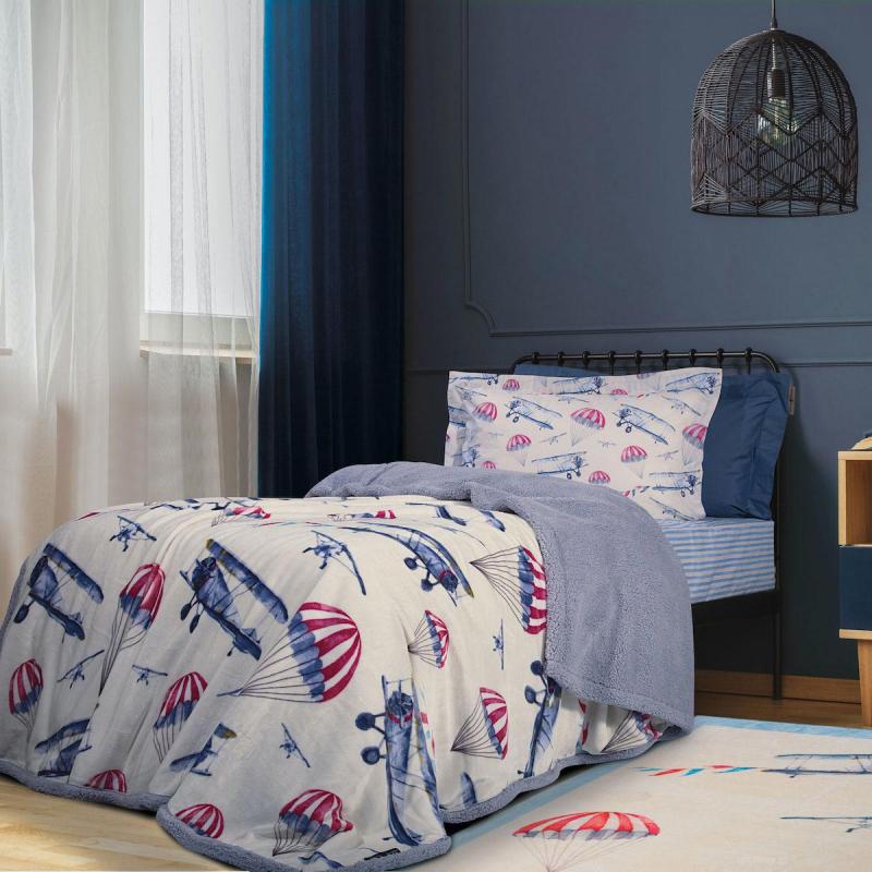 Κουβέρτα Fleece Μονή Με Γουνάκι Greenwich Polo Club 8800