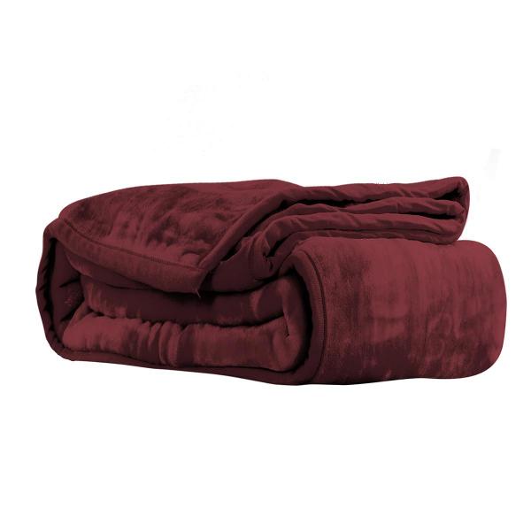 Κουβέρτα Βελουτέ Υπέρδιπλη Nef-Nef Loft 1142 Bordo