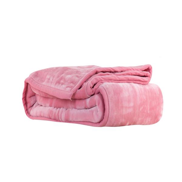 Κουβέρτα Βελουτέ Μονή Nef-Nef Loft Pink