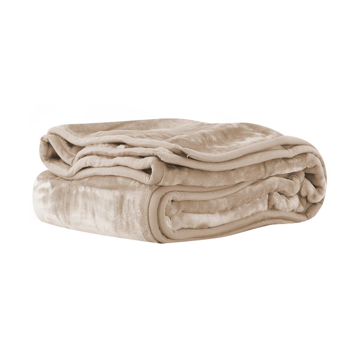 Κουβέρτα Βελουτέ Υπέρδιπλη Nef-Nef Loft 1107 Linen