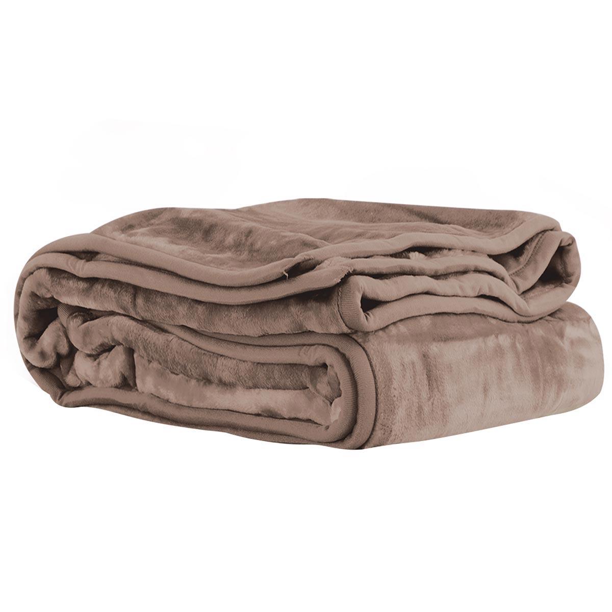 Κουβέρτα Βελουτέ Υπέρδιπλη Nef-Nef Loft 1140 Mocca