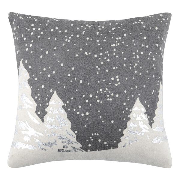 Χριστουγεννιάτικο Μαξιλάρι (40x40) S-F Snowing Gris C0A274001