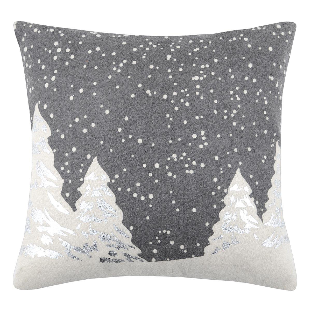 Χριστουγεννιάτικο Μαξιλάρι (40×40) S-F Snowing Gris C0A274001