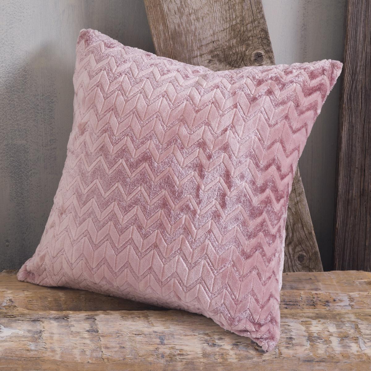 Διακοσμητική Μαξιλαροθήκη (50×50) Rythmos Montana Pink