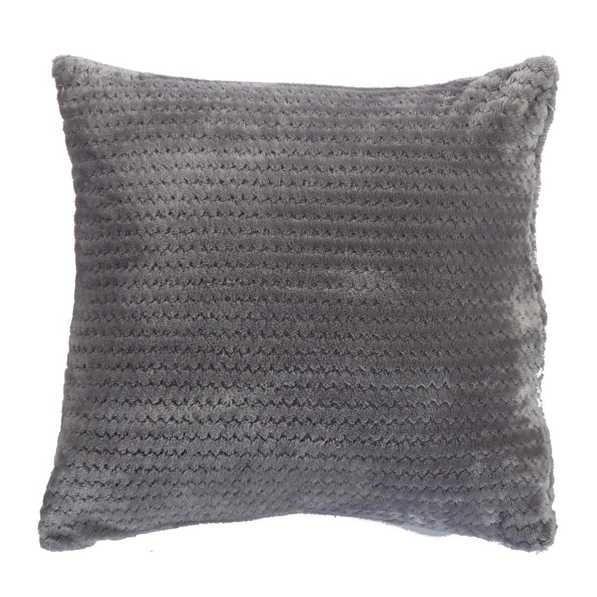 Διακοσμητικό Μαξιλάρι Fleece (45×45) Nef-Nef Cameron Grey