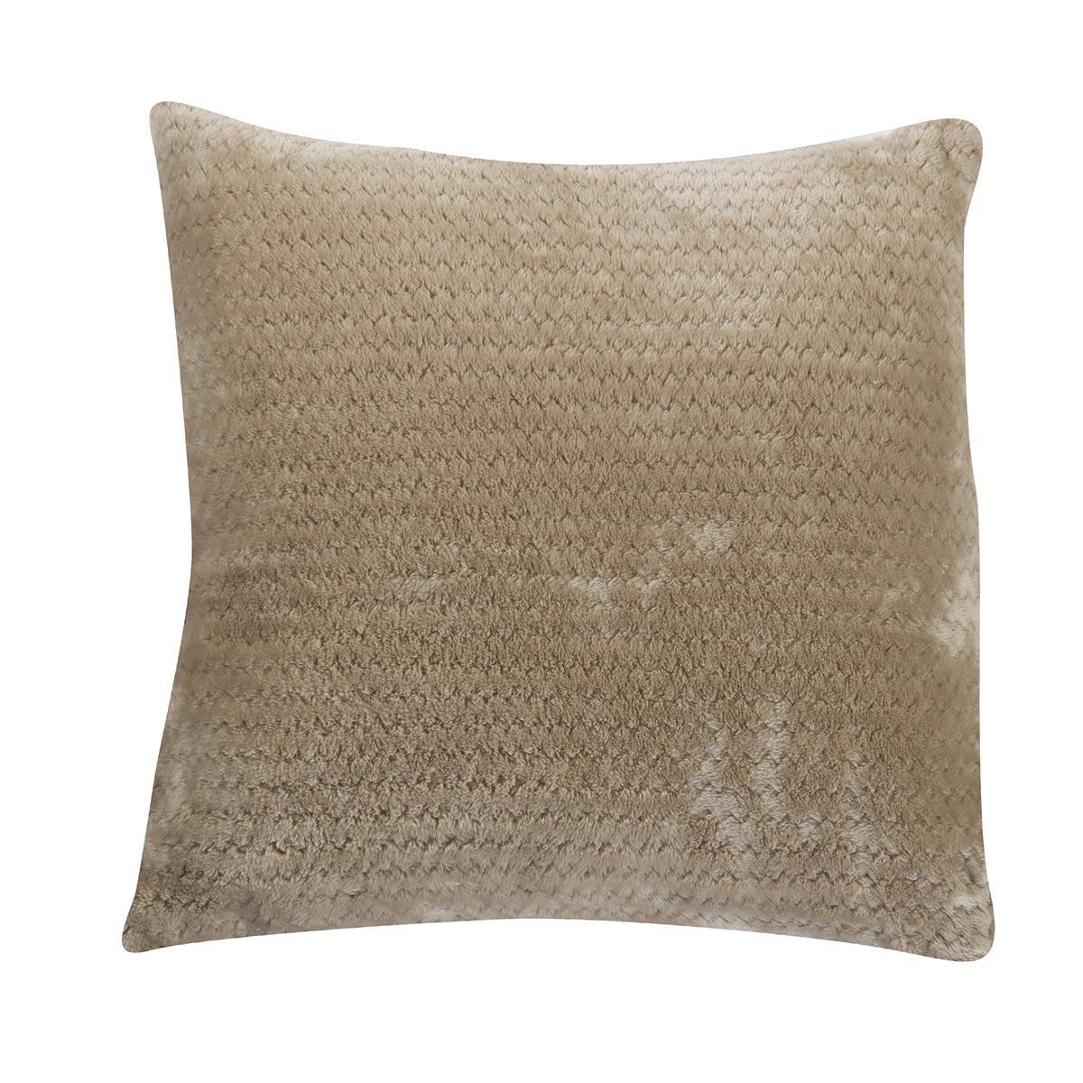 Διακοσμητικό Μαξιλάρι Fleece (45×45) Nef-Nef Cameron Beige