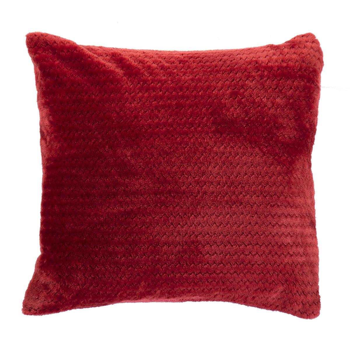 Διακοσμητικό Μαξιλάρι Fleece (45×45) Nef-Nef Cameron Bordo