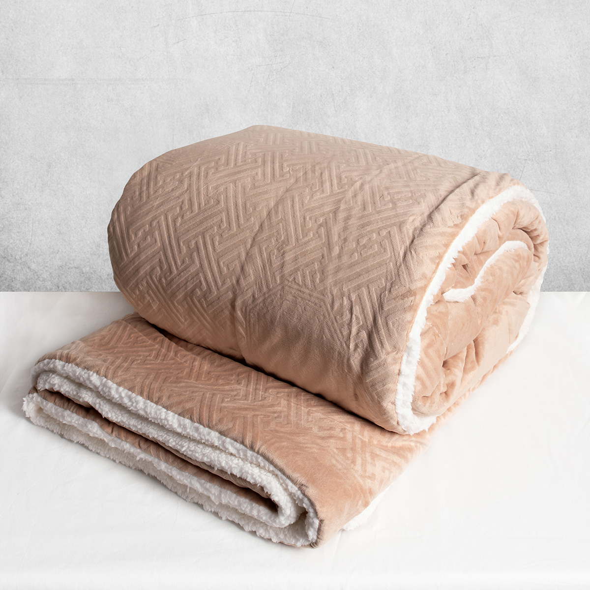 Κουβερτοπάπλωμα Υπέρδιπλο Silk Fashion Basic Beige