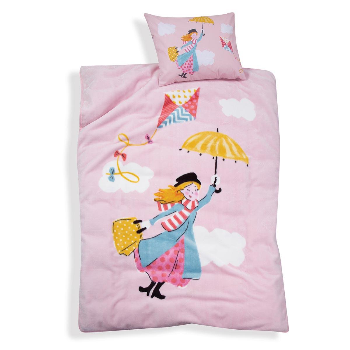 Κουβέρτα Βελουτέ Μονή Nef-Nef Mary Poppins