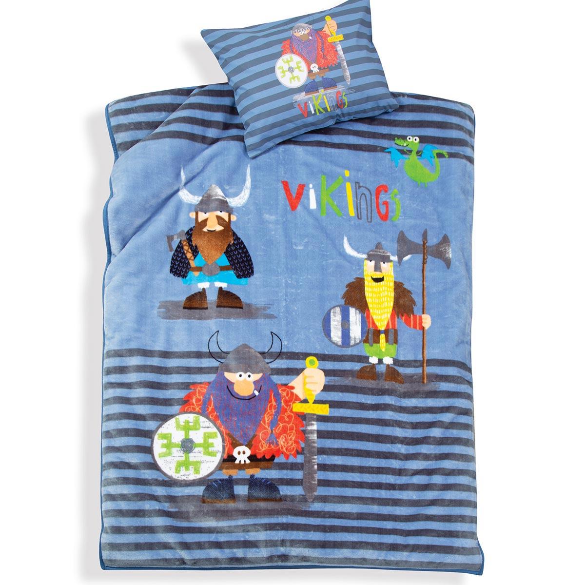 Κουβέρτα Βελουτέ Μονή Nef-Nef Vikings Style