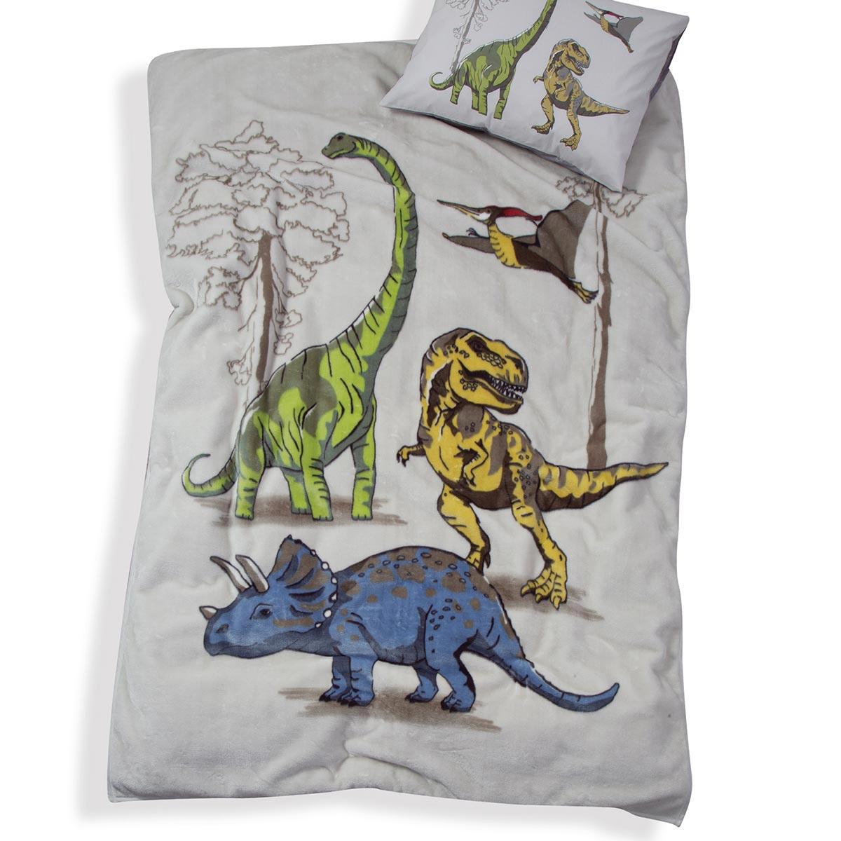 Κουβέρτα Βελουτέ Μονή Nef-Nef Jurassic