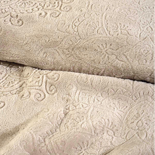 Κουβέρτα Fleece Υπέρδιπλη Das Home Blanket Line 0454 Beige